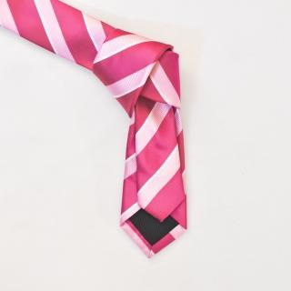 Купить галстук розового цвета в полоску