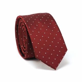 Купить бордовый галстук в горошек