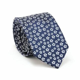 Купить синий галстук в цветочек