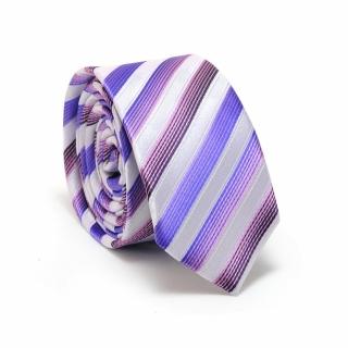 Купить бело-сиреневый галстук