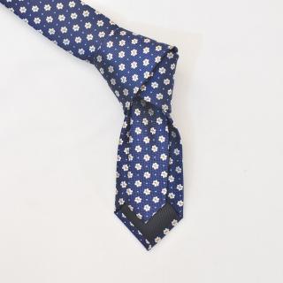 Синий цветочный галстук
