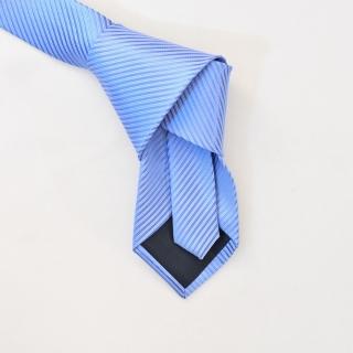 Однотонный мужской голубой галстук