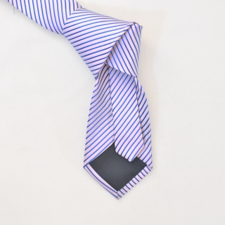 Мужской галстук розовый в полоску