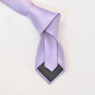 Фиолетовый мужской галстук в полоску