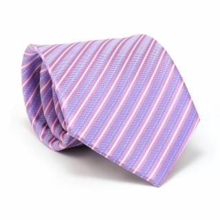 Купить сиреневый галстук в полоску