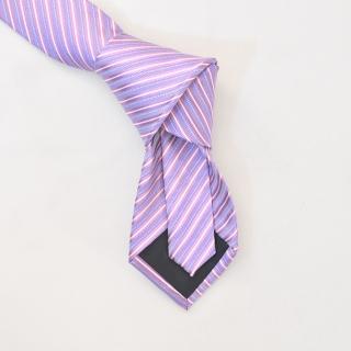 Нежно сиреневый мужской галстук в полоску