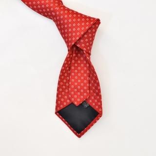 Мужской галстук красный с квадратами