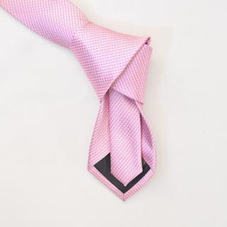 Светло-розовый однотонный галстук в полоску