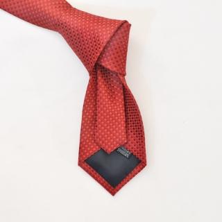 Фактурный красный галстук из вискозы