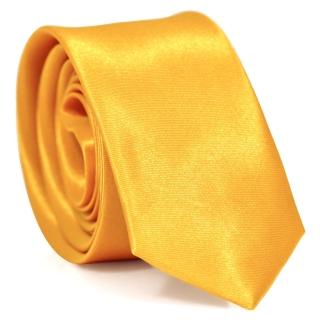 Узкий галстук #114 (желтый)