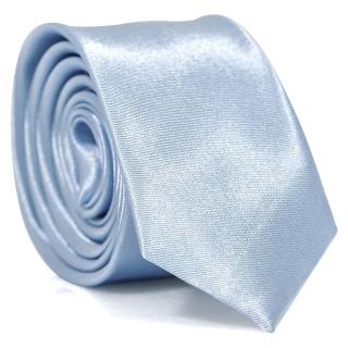 Узкий галстук #115 (голубой)