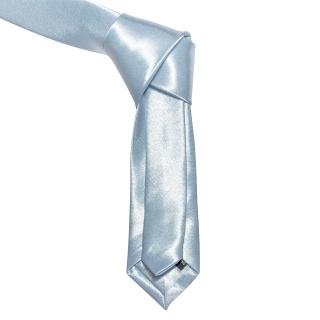 Узкий галстук селедка голубого цвета