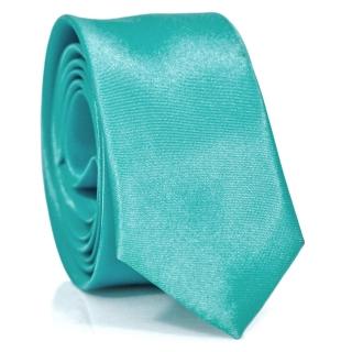 Узкий галстук #118 (бирюзовый)