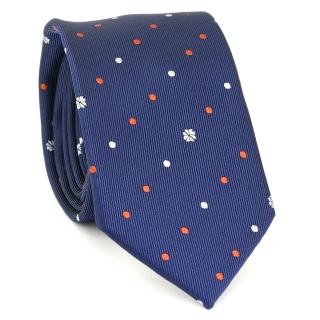 Купить стильный модный узкий галстук синего цвета