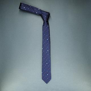 Недорогой стильный модный узкий галстук синего цвета