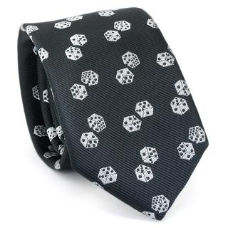 Узкий галстук #122 (кости)