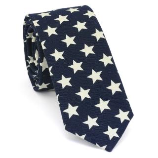 Узкий галстук #128 (звезды)