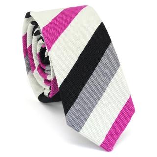 Узкий галстук #134 (розовый)