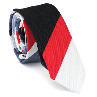 Узкий галстук #135 (полосатый)