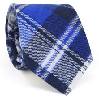 Купить узкий мужской стильный клетчатый галстук