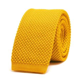 Вязаный галстук #157 (желтый)