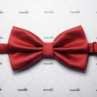 Фактурный галстук бабочка бордового цвета