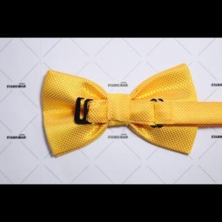 Галстук-бабочка желтая фактурная