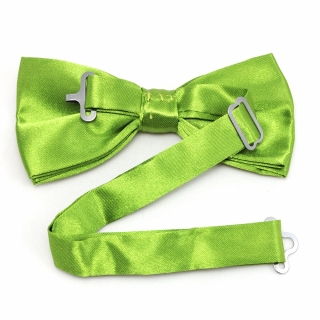Однотонная яркая зеленая галстук бабочка
