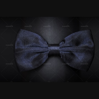 Черно-синяя бабочка на шею