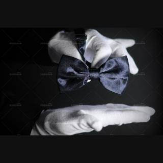 Бабочка галстук темно-синего цвета