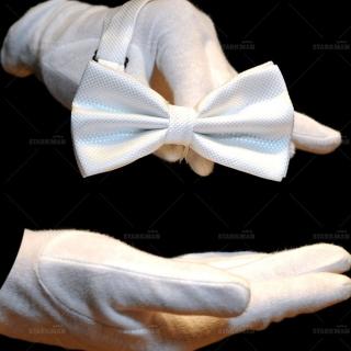 Мужская белая однотонная бабочка