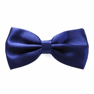 Темно-синяя галстук бабочка однотонная