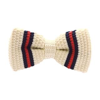 Вязаная галстук бабочка (бежевая)