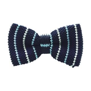 Синяя галстук-бабочка в полоску