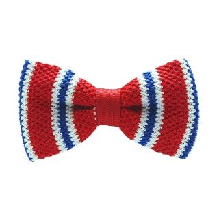 Вязаная галстук бабочка красная