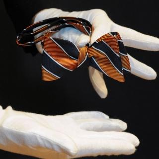 Мужская бабочка самовяз в полоску