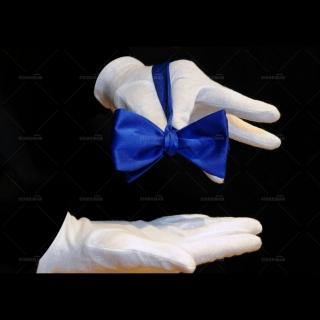 Купить однотонную синюю галстук-бабочку самовяз