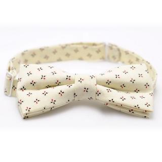 Купить бежевую галстук-бабочку handmade
