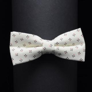 Дизайнерская галстук бабочка бежевого цвета