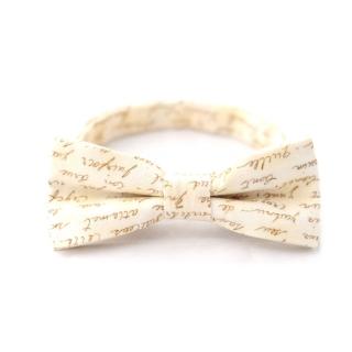 Дизайнерская галстук-бабочка бежевая