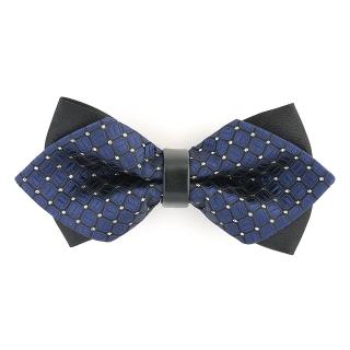 Купить синюю треугольную галстук бабочку