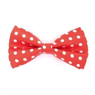 Красная галстук-бабочка в горошек