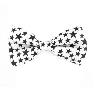 Купить мужскую бабочку белую со звездами