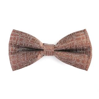 Купить коричневую галстук-бабочку с блестками