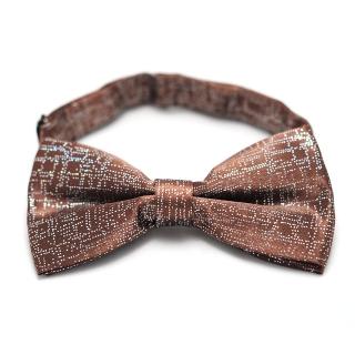 Коричневая галстук-бабочка с блестками