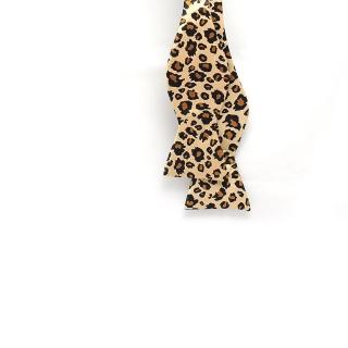 Леопардовая галстук-бабочка самовяз