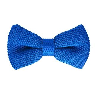 Синяя вязаная галстук-бабочка