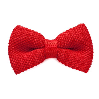 Красная вязаная галстук-бабочка