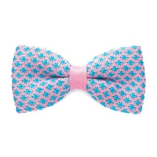 Розовая вязаная галстук-бабочка