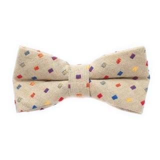 Бежевая галстук-бабочка со вставками